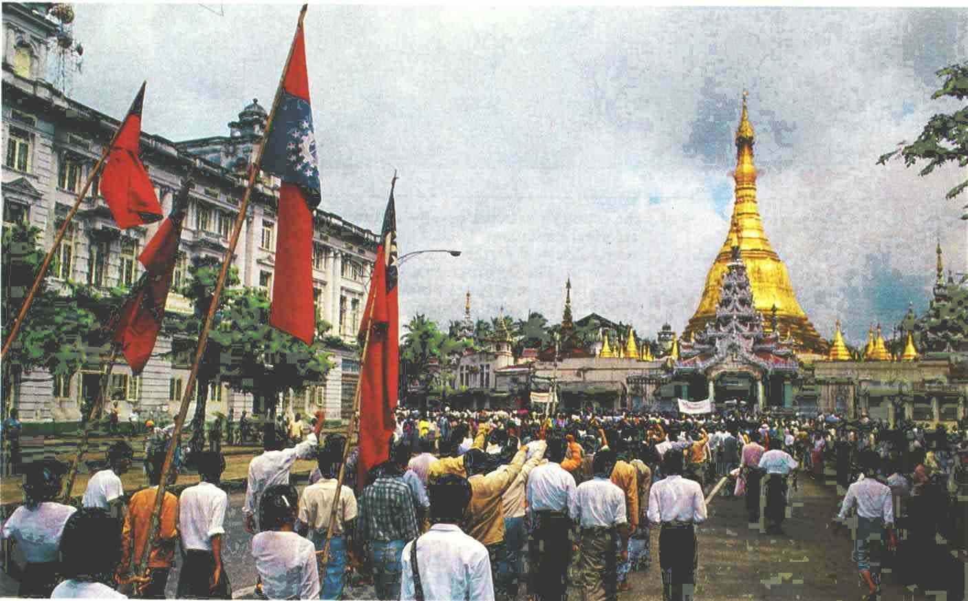 Revolución estudiantil 1988 yangoon myanmar