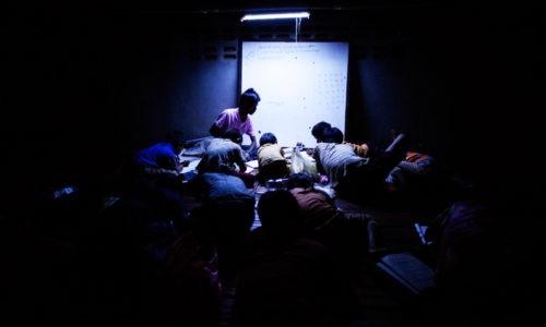 profesor birmano escuela nocturna