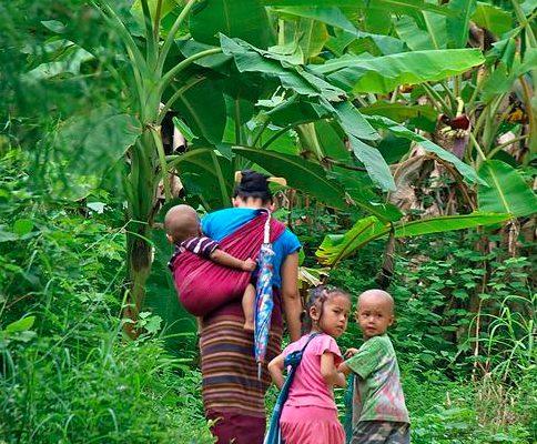 familia karen campo de refugiados
